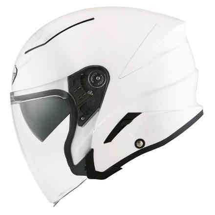 Helm Speedjet Plain Weiß Suomy