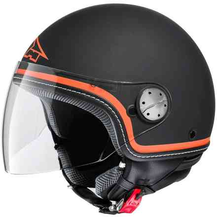Helm Subway Black/Orange Axo