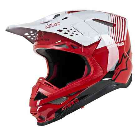 Helm Supertech S-M10 Dyno Rot Weiss glossy Alpinestars
