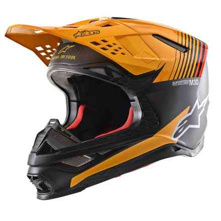 Helm Supertech S-M10 Dyno Schwarz Carbon Orange M&G Alpinestars