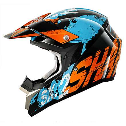 Helm SX 2 Freak Schwarz / Orange / Blau Shark