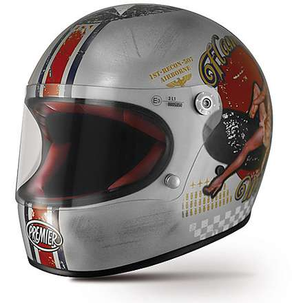 Helm Trophy Pin Up Old Style ylver Premier