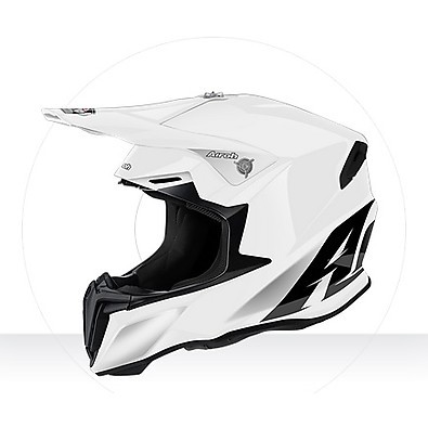 Helm Twist Color white gloss Airoh