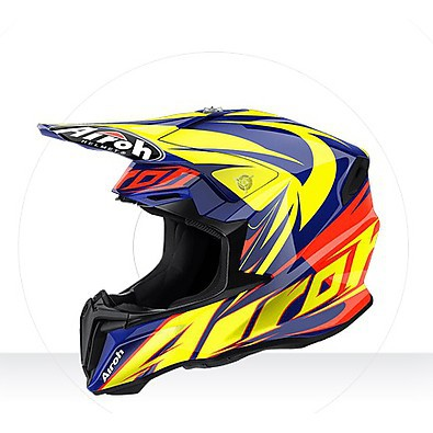 Helm Twist Evil blue gloss Airoh