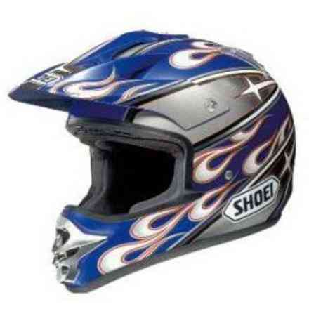 Helm V-Moto Pulse Blau Silber Shoei