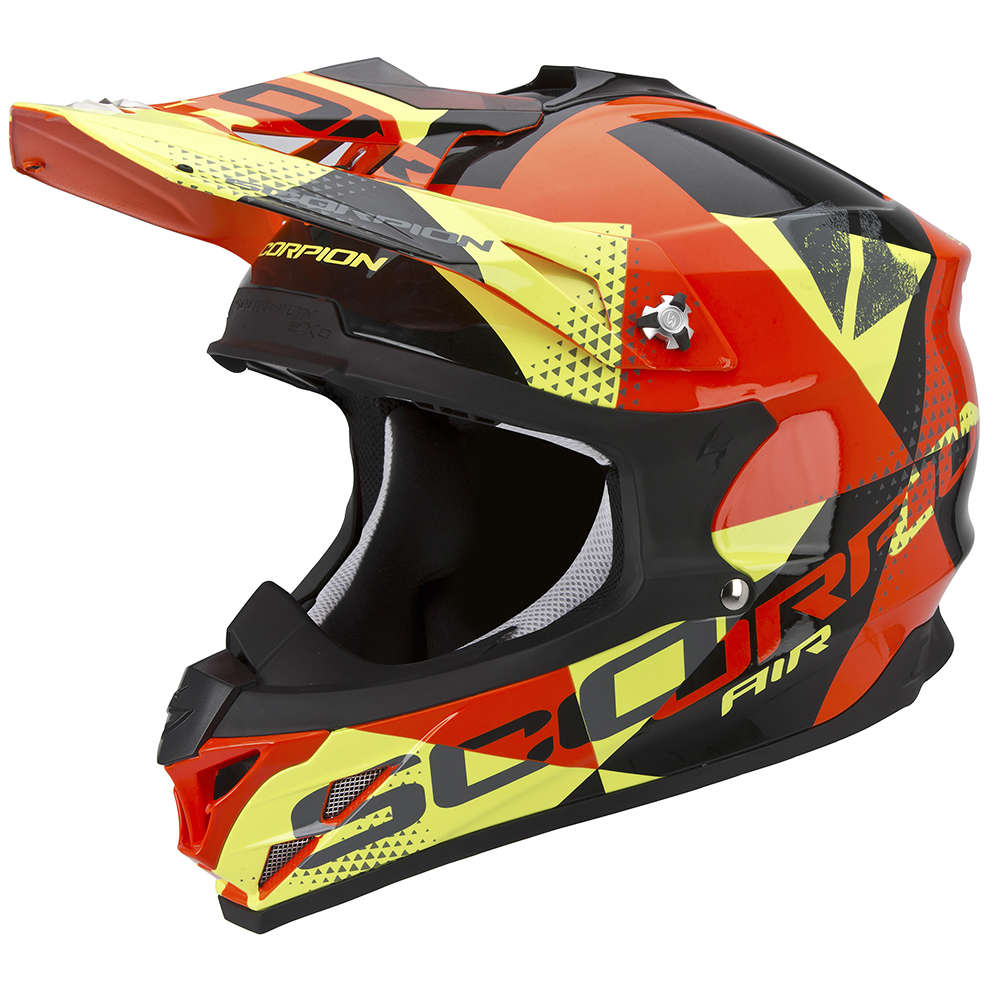 Helm VX-15 Evo Air Akra schwarz-orange-gelb Scorpion