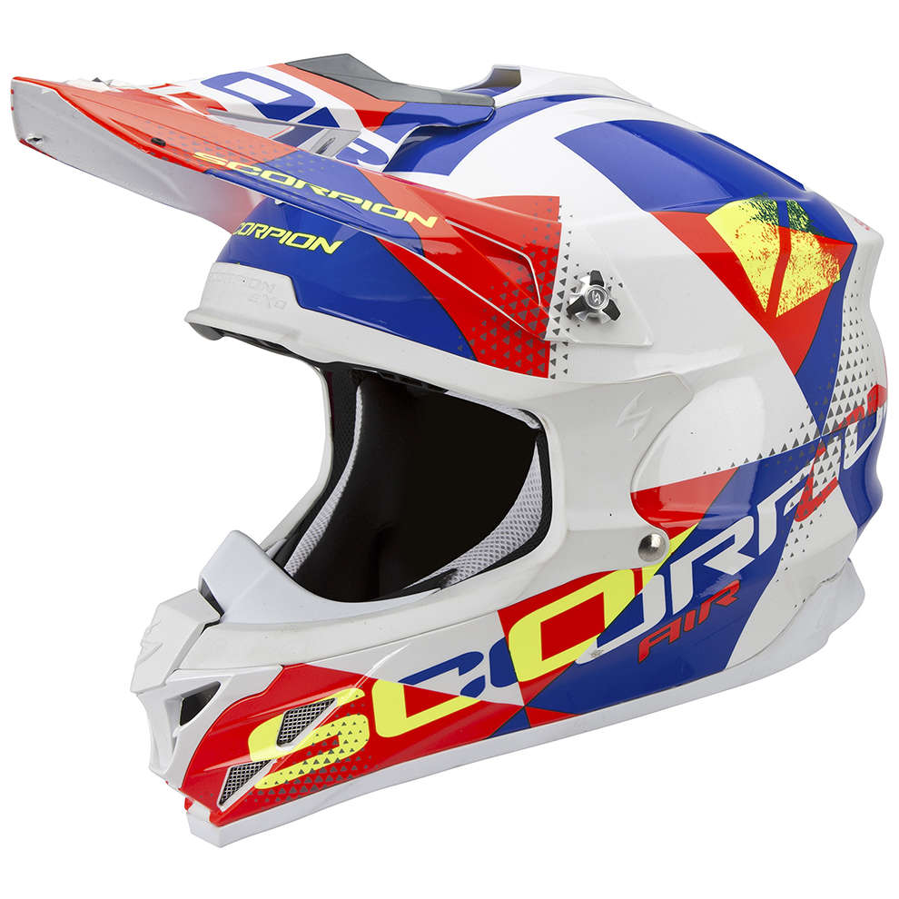Helm VX-15 Evo Air Akra weiss-rot-blau Scorpion