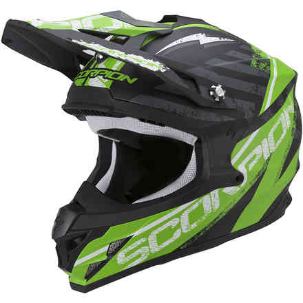 Helm VX-15 Evo Air Gamma schwarz-grun matt Scorpion