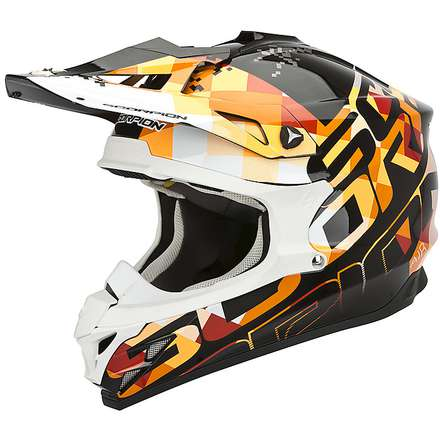 Helm VX-15 Evo Air Grid Schwarz-Orange Scorpion