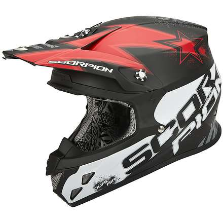 Helm VX-20 Air  Magnus Schwarz-Rot Scorpion
