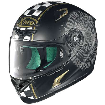 Helm X-802RR Cafe Club flat black X-lite