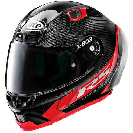 Helm X-803 Rs Hot Lap Carbon Rot X-lite