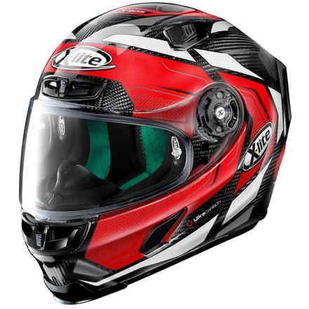 Helm X-803 Ultra Carbon Caesar Carbon Rot X-lite