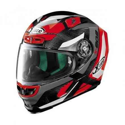 Helm X-803 Ultra Carbon Mastery Carbon Schwarz Rot X-lite