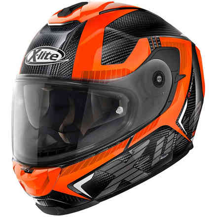 Helm X-903 Ultra Evocator Carbon orange X-lite