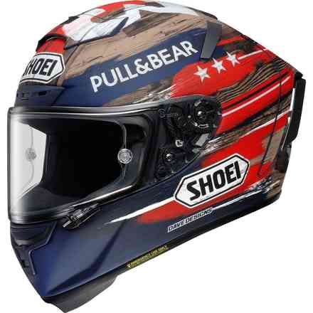 Helm X-Spirit 3 Marquez America Blue Limited edition Shoei