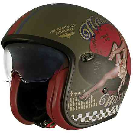 Helmet 2019 Vintage Evo Pin Up Military Bm Pmm Premier