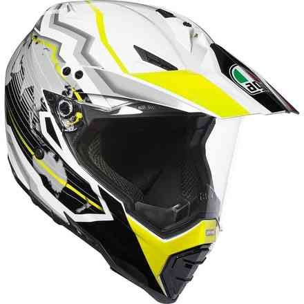 Helmet Ax8 Dual Evo Multi Earth white-black-yellow Agv