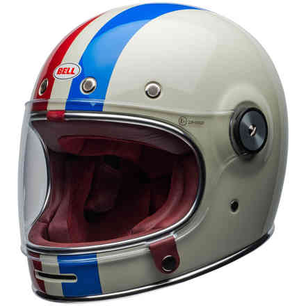 Helmet Bullitt Dlx Command Vintage White Red Blue Bell
