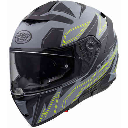 Helmet Devil ElyGrey Bm Gray Yellow Premier