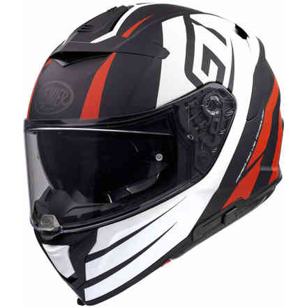 Helmet Devil Gt92 Bm White Red Premier