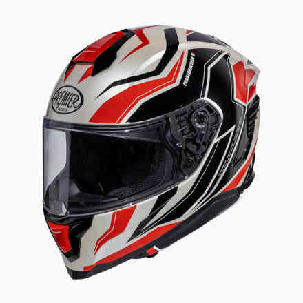 Helmet Hyper Rw2 White Red Black Premier