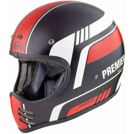 Helmet Mx Bl92 Bm Red Black Premier