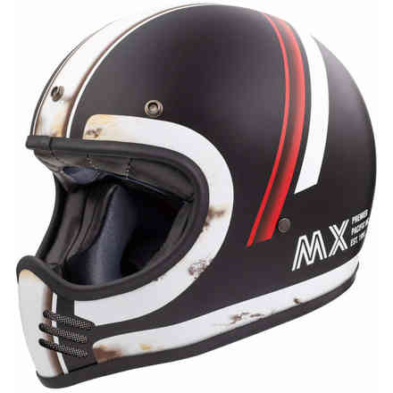 Helmet Mx Do92 O.S. Bm Black White Premier