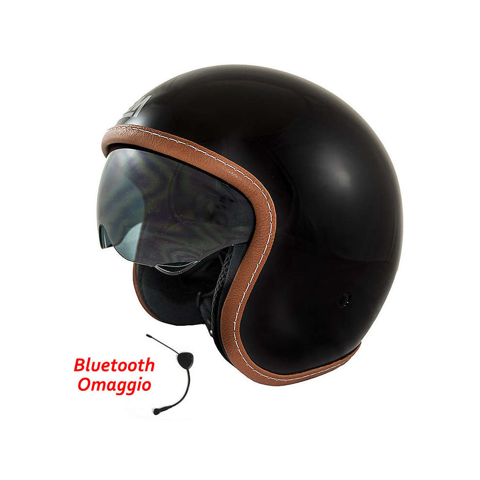 Helmet Sport Solid Black + Bluetooth Gift LEM