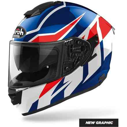 Helmet St.501 Frost Blue Red Gloss Airoh