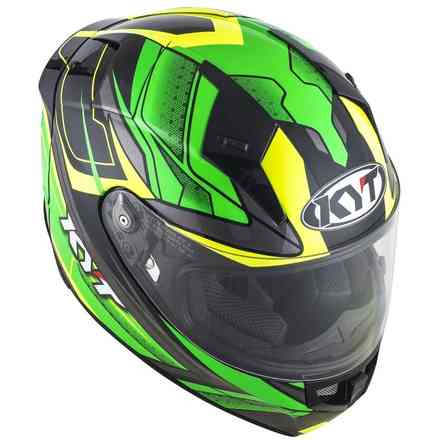 Helmet Thunderflash Bolt Green-Yellow KYT