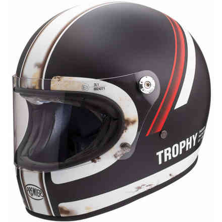 Helmet Trophy Do92 O.S. Bm Black White Premier