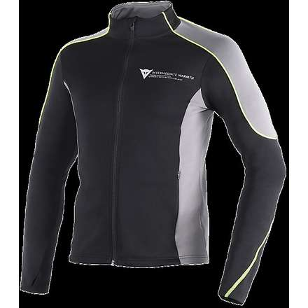 Hemd D-Mantle Fleece Schwarz-anthrazit-gelb fluo Dainese