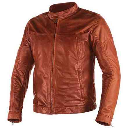 Heston  tan Leather jacket  Dainese