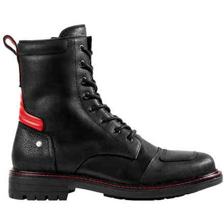 High-Top-Schuh X-Goodwood Schwarz Rot Spidi