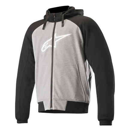 Hoodie Chrome Sport Melange Gray Black Alpinestars