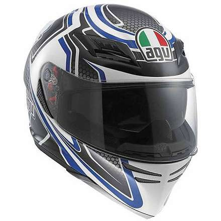 Horizon Racer Helmet - white/carbon/blue Agv