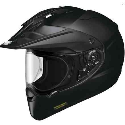 Hornet-Adv Plain black Helmet Shoei