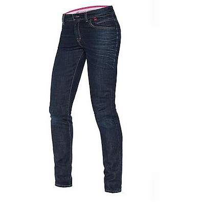 Hose Belleville Slim Dame Denim Dark Dainese
