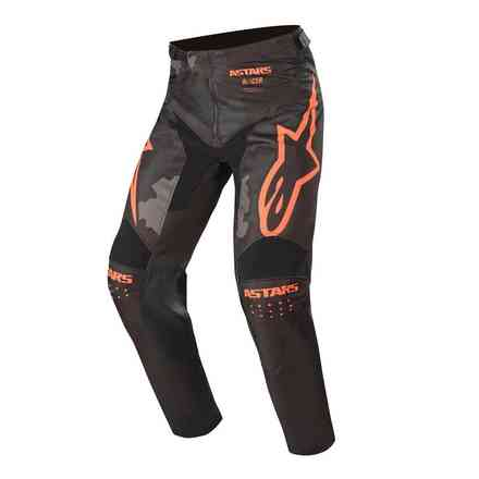 Hose Cross Racer Tactical Schwarz Grau Camo Orange Fluo Alpinestars