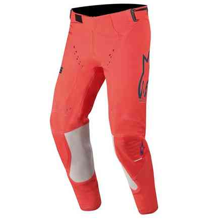 Hose Cross Supertech  Leuchtend Rot Navy Weiß Alpinestars
