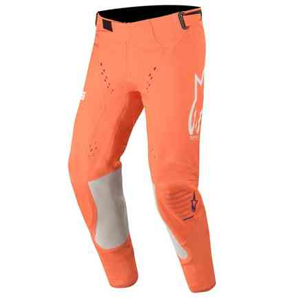 Hose Cross Supertech Orange Fluo Weiß Blau Alpinestars