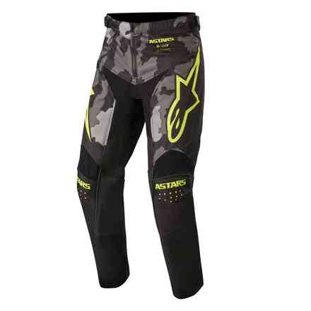 Hose Cross Youth Racer Tactical Schwarz grau camo gelb fluo Alpinestars