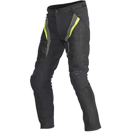 Hose Drake Super Air Tex Schwarz-Gelb-Dark gull gray Dainese