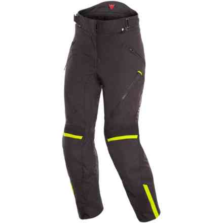 Hose Tempest 2 Lady D-Dry Schwarz Gelb fluo Dainese