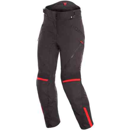 Hose Tempest 2 Lady D-Dry Schwarz tour Rot Dainese