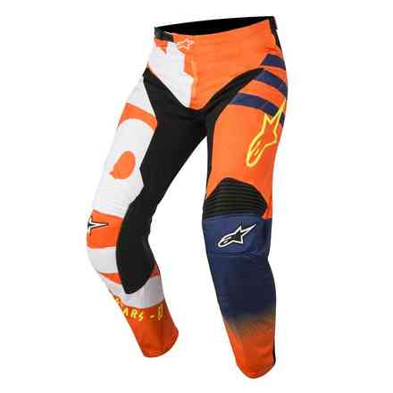 Hose Youth Racer Braap Orange Fluo Dark Blau Weiss Alpinestars