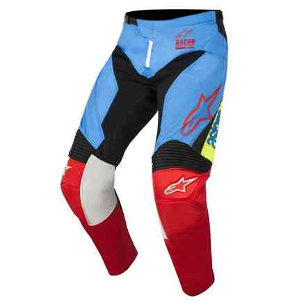 Hose Youth Racer Supermatic 2018 Aqua Schwarz Rot Alpinestars