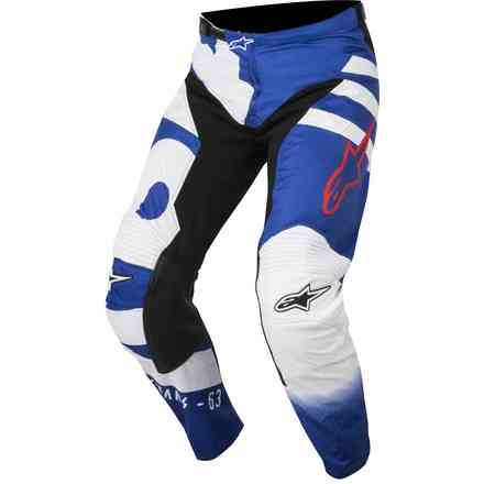 Hosen Cross Racer Braap Blau-Weiss-Rot Alpinestars
