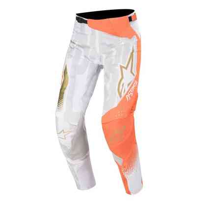 Hosen Techstar Factory Metal Weiß Orange Fluo Gold Alpinestars
